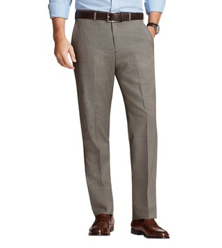 Brooks Brothers Brown Regent Fit UB Checks Trousers