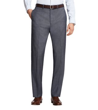 Brooks Brothers Blue Milano Fit UB Tic Trousers
