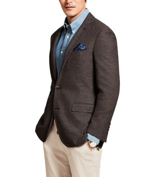 Brooks Brothers Brown Regent Fit Textured Sport Coat
