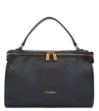 Coccinelle Noir Atsuko Medium Leather Satchel