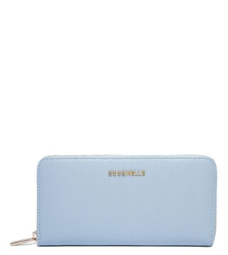 Coccinelle Iris Metallic Saffiano Small Leather Wallet