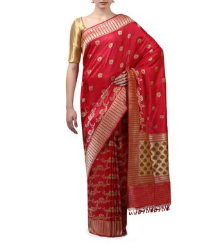 Swati and Sunaina Rani Pink Leher Silk Saree With Blouse