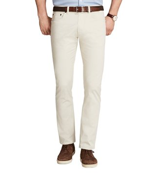 Brooks Brothers Oatmeal 5 Pocket Selvedge Twill Chinos