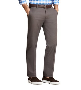 Brooks Brothers Grey Lightweight Stretch Milano Fit Chinos