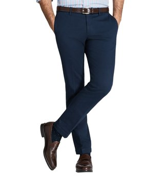 Brooks Brothers Navy Garment Dyed Andrea Fit Chinos