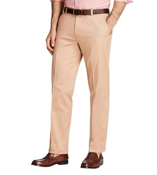 Brooks Brothers Dark Khaki Stretch Milano Fit Chinos