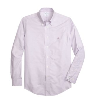 Brooks Brothers Purple Non Iron Oxford Sport Shirt