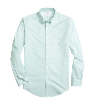 Brooks Brothers Green Non Iron Oxford Sport Shirt