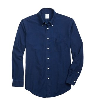 Brooks Brothers Navy Graph Checks Sport Shirt