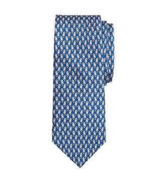 Brooks Brothers Navy Printed Tie