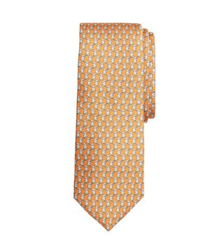 Brooks Brothers Orange Printed Tie