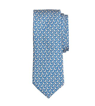 Brooks Brothers Blue Printed Tie