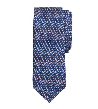Brooks Brothers Navy Airplane Printed Tie