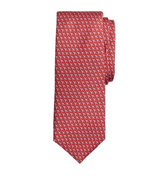 Brooks Brothers Red Airplane Printed Tie