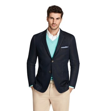Brooks Brothers Navy Milano Fit Blazer