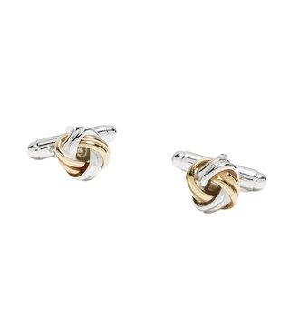 Brooks Brothers Silver & Gold Knot Cufflinks