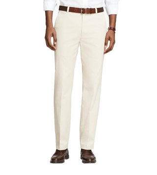 Brooks Brothers Oatmeal Supima Piece Dyed Milano Fit Chinos