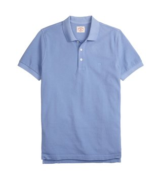 Brooks Brothers Red Fleece Light Blue Dyed Pique Polo T-Shirt
