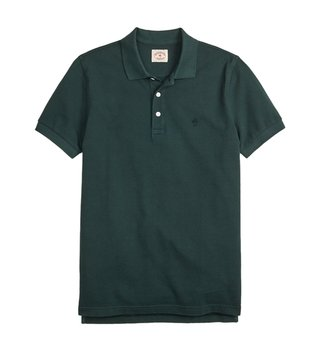 Brooks Brothers Red Fleece Dark Green Dyed Polo T-Shirt