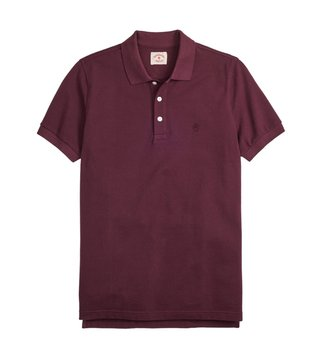 Brooks Brothers Red Fleece Wine Garment Dyed Polo T-Shirt