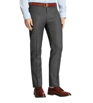 Brooks Brothers Charcoal Flat Front Trousers