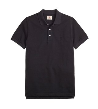 Brooks Brothers Red Fleece Black Garment Dyed Polo T-Shirt