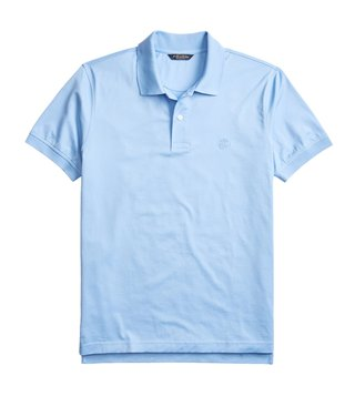 Brooks Brothers Light Blue Supima Jersey Slim Fit Polo T-Shirt