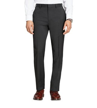 Brooks Brothers Grey New Basic Flat Front Trousers