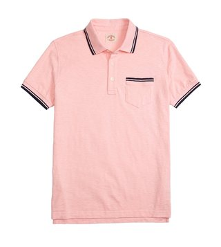 Brooks Brothers Red Fleece Light Pink Dyed Polo T-Shirt