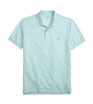 Brooks Brothers Aqua Supima Performance Slim Fit Polo T-Shirt