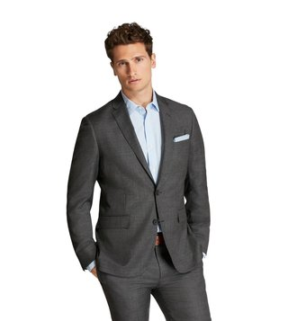 Brooks Brothers Red Fleece Charcoal Sharkskin Wool Suit Jacket