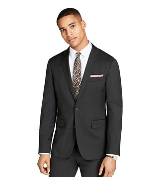 Brooks Brothers Red Fleece Grey Wool Twill Suit Jacket