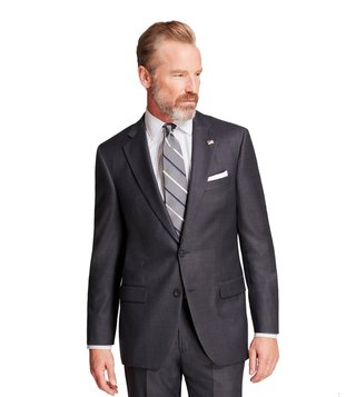 Brooks Brothers Grey & Blue Madison Fit Mini-Tattersall Suit