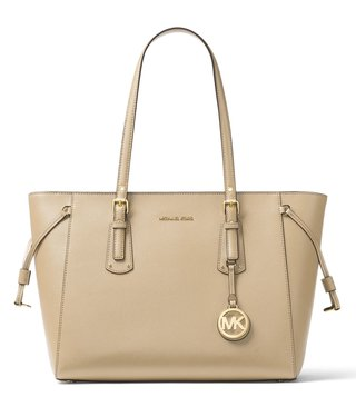 MICHAEL Michael Kors Oat Voyager Medium Leather Tote