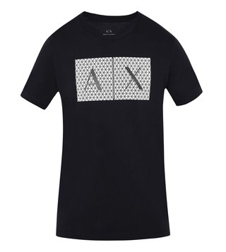 Armani Exchange Black Triangulation Slim Fit T-Shirt