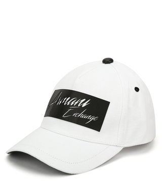 Armani Exchange Bianco Printed Sports Baseball Cap