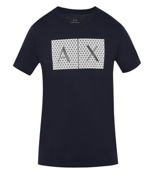 Armani Exchange Navy Triangulation Slim Fit T-Shirt