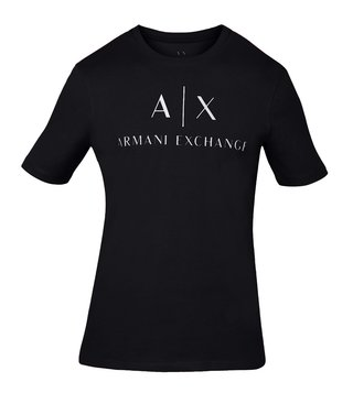 Armani Exchange Black Crew Neck Slim Fit T-Shirt
