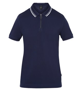Hugo Boss Navy Polston 9 Polo T-Shirt
