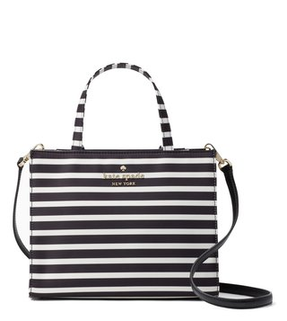 Kate Spade Black & Cream Sam Satchel