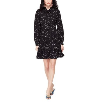 Kate Spade Black Scatter Dot Shirt Dress