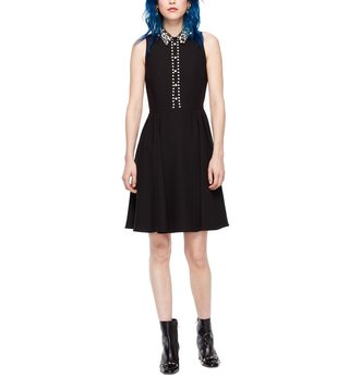 Kate Spade Black Pearl Collar Dress