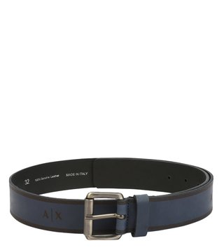 Armani Exchange Navy Buckle Waist Belt