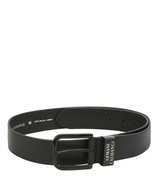 Armani Exchange Nero Logo Buckle Waist Belt