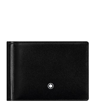 Montblanc Black Meisterstück 6cc Wallet With Money Clip