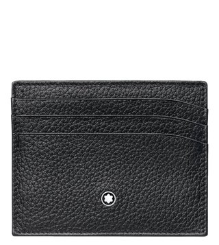 Montblanc Black Meisterstück Soft Grain 6cc Card Holder