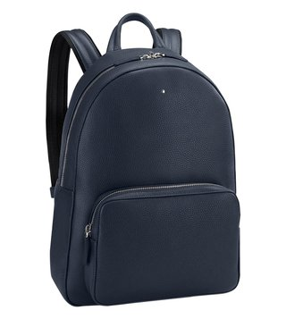 Montblanc Blue Meisterstück Soft Grain Large Backpack