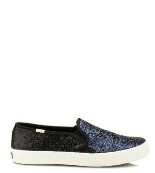 Kate Spade Silver Double Decker Kate Sneakers