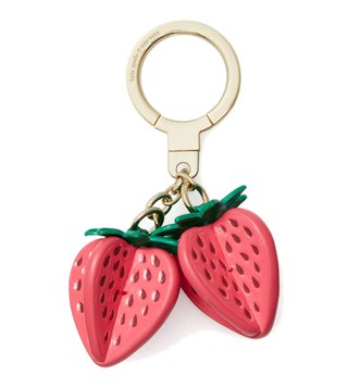 Kate Spade Pink Strawberry Keychain