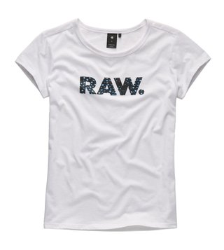 G-Star RAW White Deasty Straight Fit T-Shirt